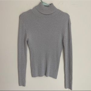 4/20$ Silver/Gray women's Turtleneck size large